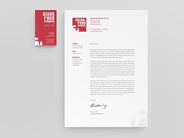 Asian Food Company stationery